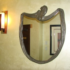 Nature bronze wall mirror